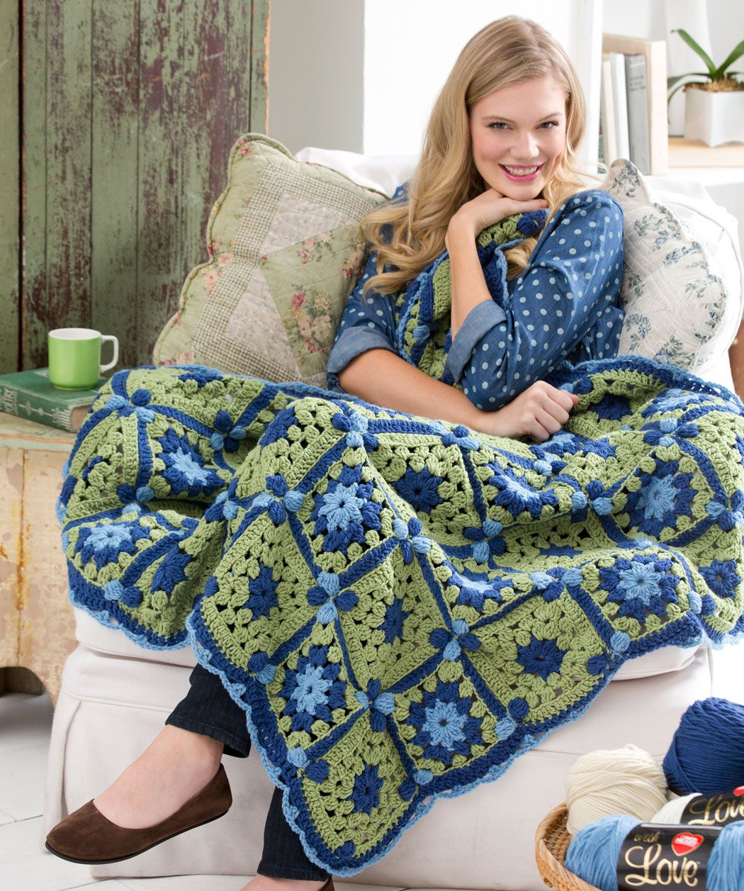 Flower path throw free crochet pattern from red heart yarns new flower path throw free crochet pattern from red heart yarns bankloansurffo Choice Image