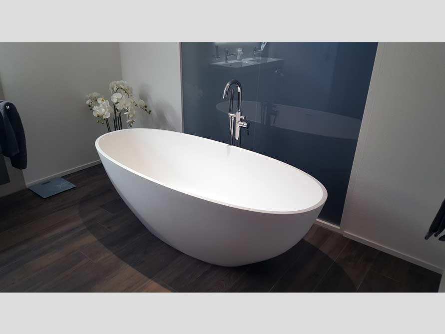 Freistehende Badewanne Piemont aus Mineralguss - Weiß matt oder - schöne badezimmer ideen