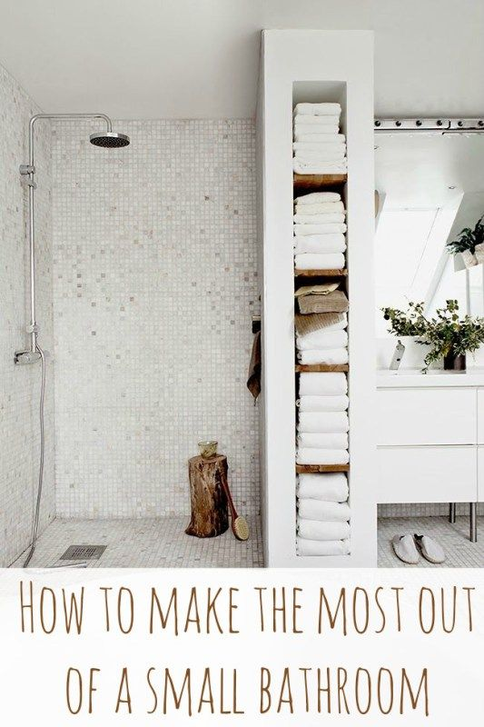 Make The Most Of Your Small Bathroom In 7 Steps. Bathroom Towel StorageWall  ...