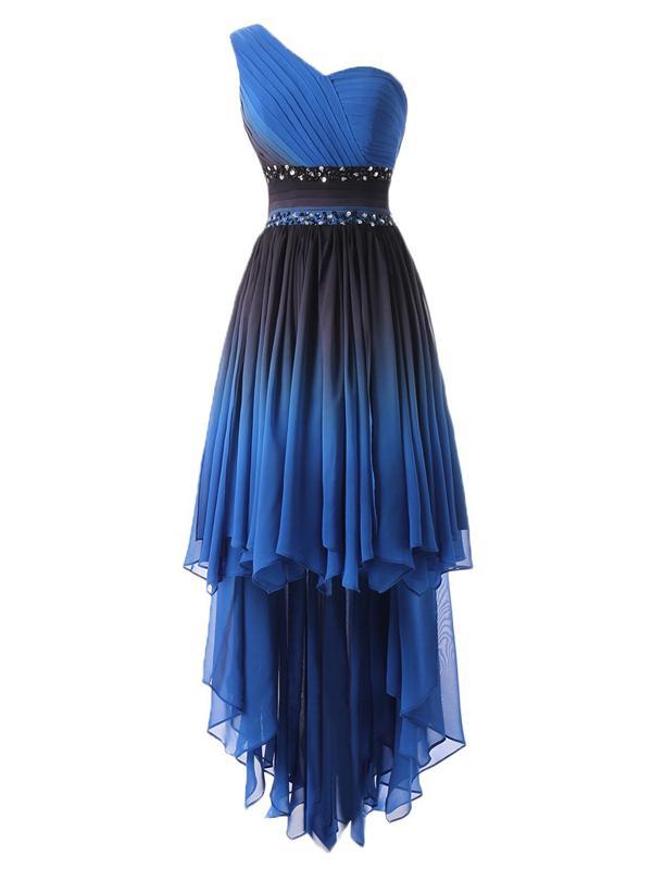 1de5c349e44 Laceshe Women s Hi-Lo Gradient Backless Chiffon Prom Dress ...