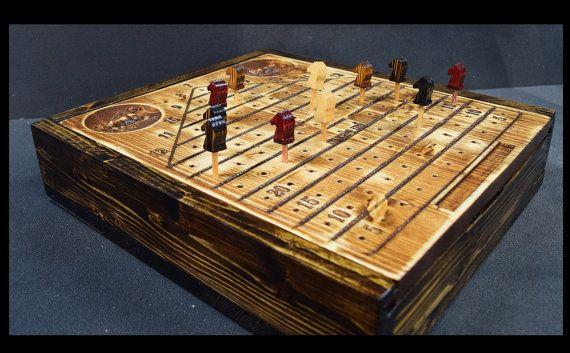 Handmade Horse Racing Board Game And Storage Cabinet Horse Race Game Handmade Board Games