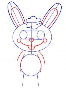 how to draw cuddles from happy tree friends step 3 | Craft
