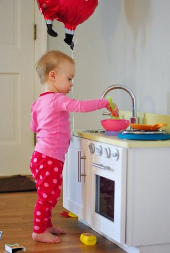 This Reminds Me Of Me When I Was Little..getting My Play Kitchen From