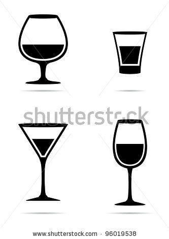 f58962860ea Icons glass Wine glasses