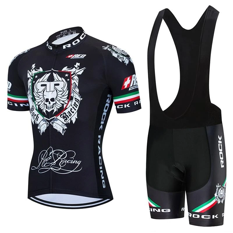 Rock Racing Black Retro Cycling Jersey Kit