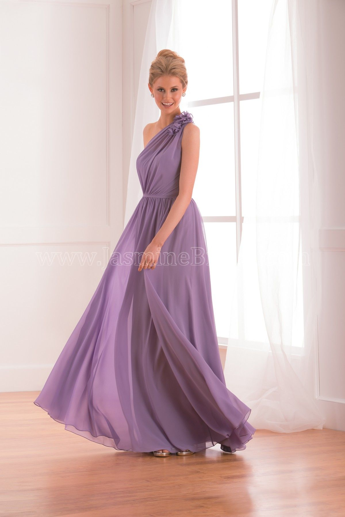 Jasmine Bridal - B2 Style B173020 in Poly Chiffon, color Boysenberry ...
