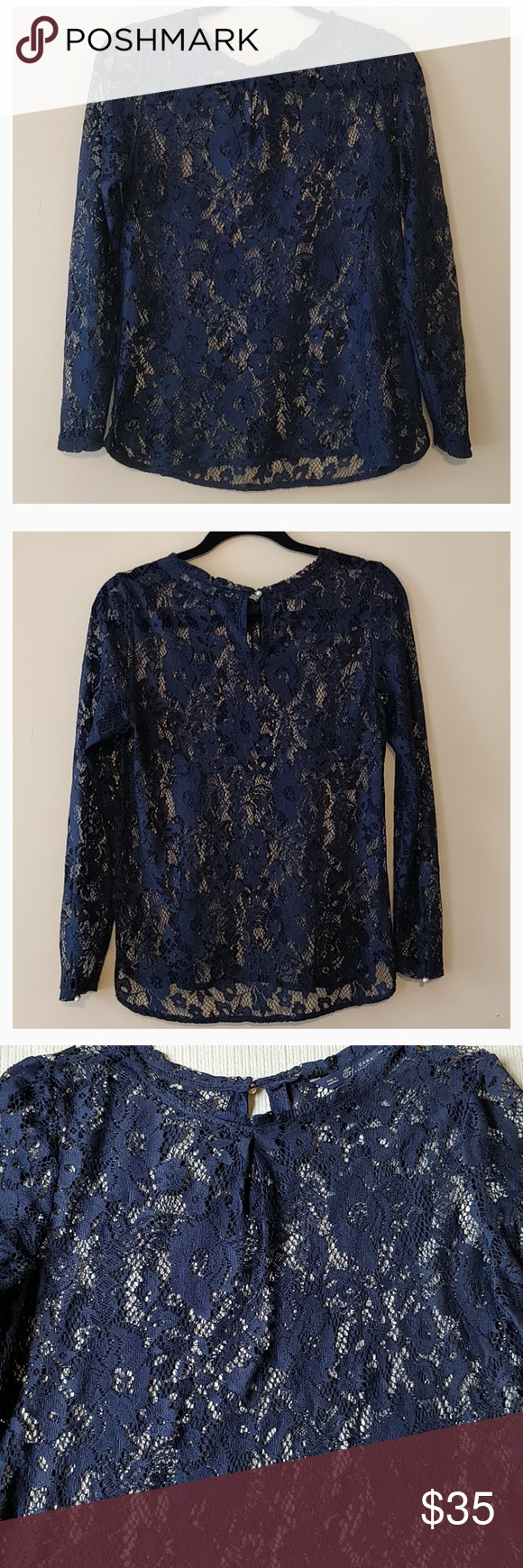Zara Sheer Floral Lace Top Floral Lace Tops Lace Blouse Long Sleeve Floral Lace
