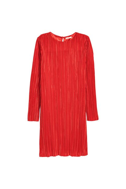 The same yuba-textured fabric as those pants everybody was wearing this summer, but a dress in an ace color. Buy it here!