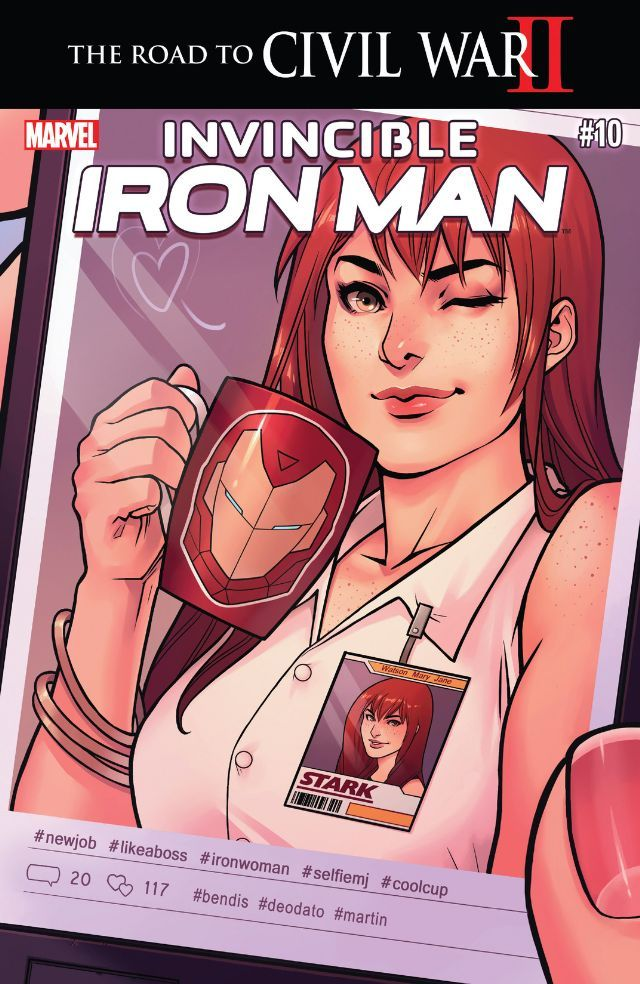 Invincible Iron Man (2015) #10 #Marvel @marvel @marvelofficial #InvincibleIronMan (Cover Artist: Mike Deodate Jr) Release Date: 6/1/2016