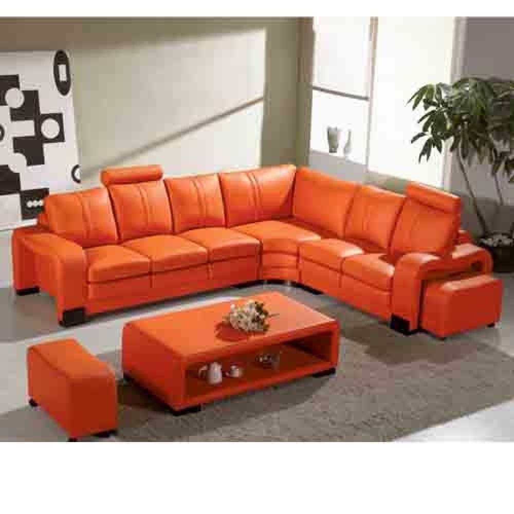 Good Looking Orange Leather Sofas You Must Have Beautiful Tonga