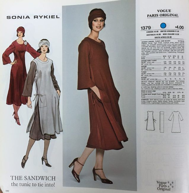 Sonia Rykiel for Vogue Patterns. From the McCall Pattern Company blog 90a7f3197