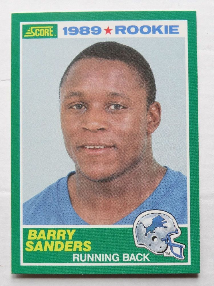 Barry Sanders 1989 Score 257 Football Card Rookie Rare