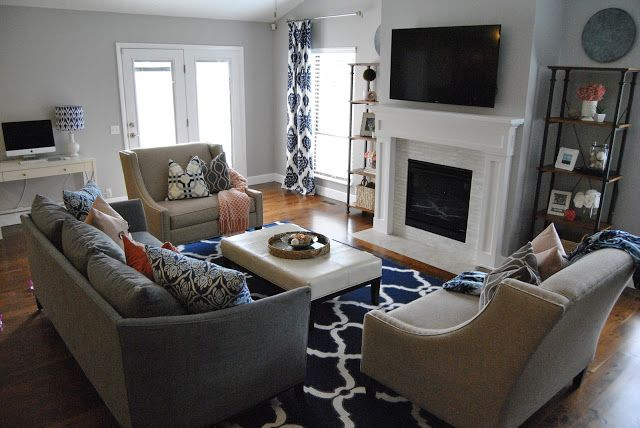 Area Rug Rug Chair Family Room Do S And Don Ts Navy