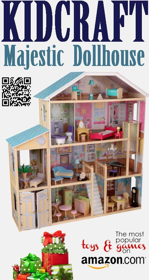 The Kidkraft Majestic Mansion Dollhouse Is Four Feet Wide And Four