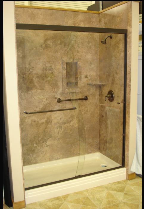 Decorative Interior Shower & Tub Wall Panels This shower was built ...