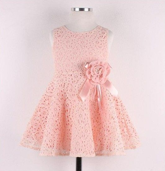 Free Shipping! 2014 Summer New girls dressbow princess dress ...