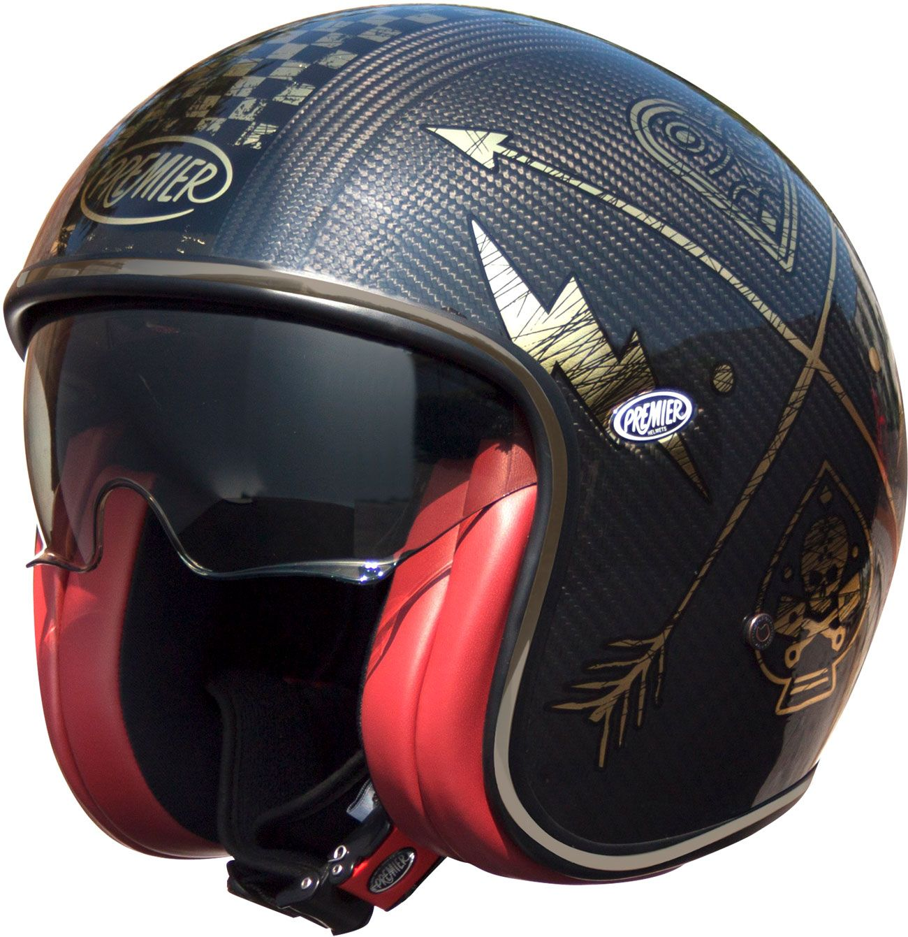 Premier Vintage Carbon Chromed Jet Helmet In 2020 Vintage Helmet Motorcycle Helmets Vintage Open Face Motorcycle Helmets