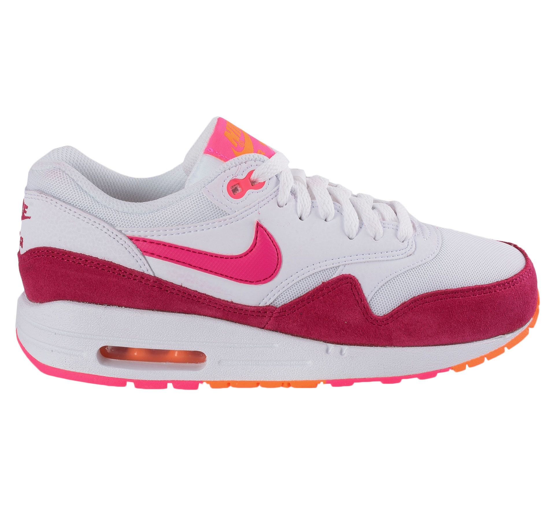 Nike Air Max 1 Essential Sneakers Dames (wit - roze - oranje ...