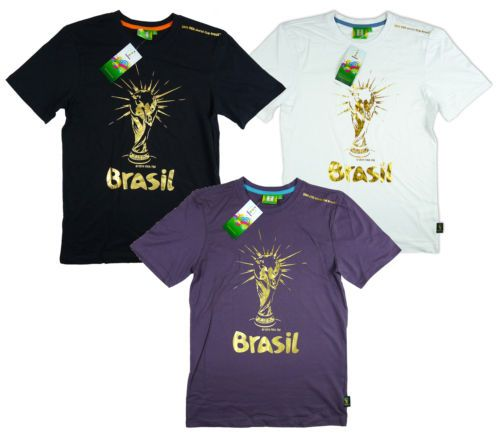 Men's official fifa #world cup brazil 2014 gold #trophy brasil #t-shirt top s - x,  View more on the LINK: 	http://www.zeppy.io/product/gb/2/231263966514/