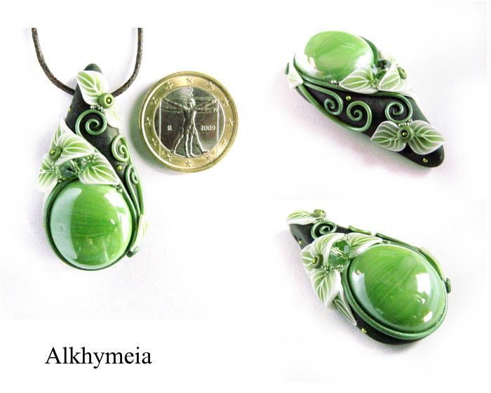 Gocce - polymer clay - Alkhymeia, polymer clay and wire work creations