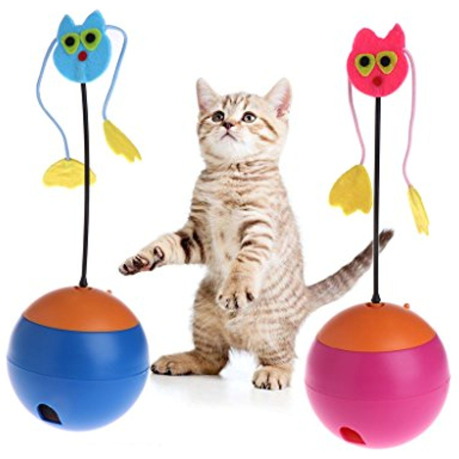 Yumian Pet Electric Tumbler Toys Interactive Cat Dog Toy Roly