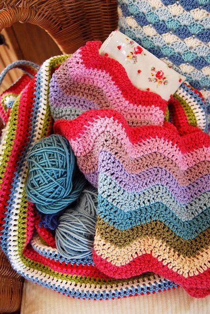 ripple blanket | Crochet | Pinterest | Muster, Decken und ...