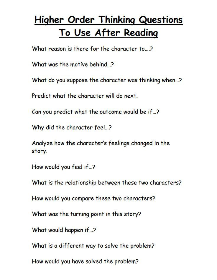Higher Order Thinking Questions Higher Order Thinking  Higher