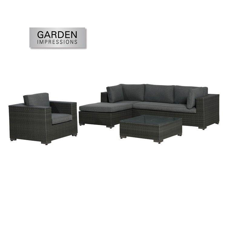 De vierdelige salamanca loungeset is een mooie brede loungeset met aluminium frame en daar - Sofa vlechtwerk ...