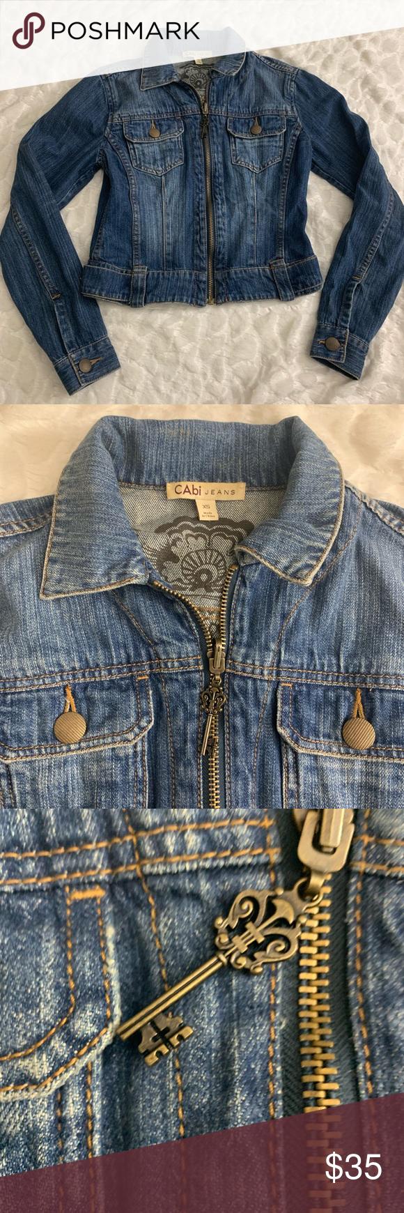 Cabi Xs Denim Jean Jacket With Key Pull Zipper So Cute Cabi Xs Denim Jean Jacket With Key Pull Zipper Closure But Denim Jean Jacket Jean Jacket Denim Jeans [ 1740 x 580 Pixel ]