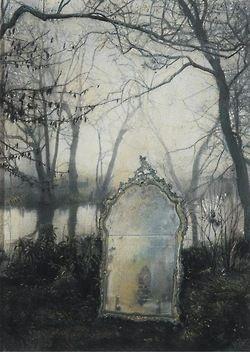 Mirrors:  Antique mystical #mirror. Francesco Balsamo.
