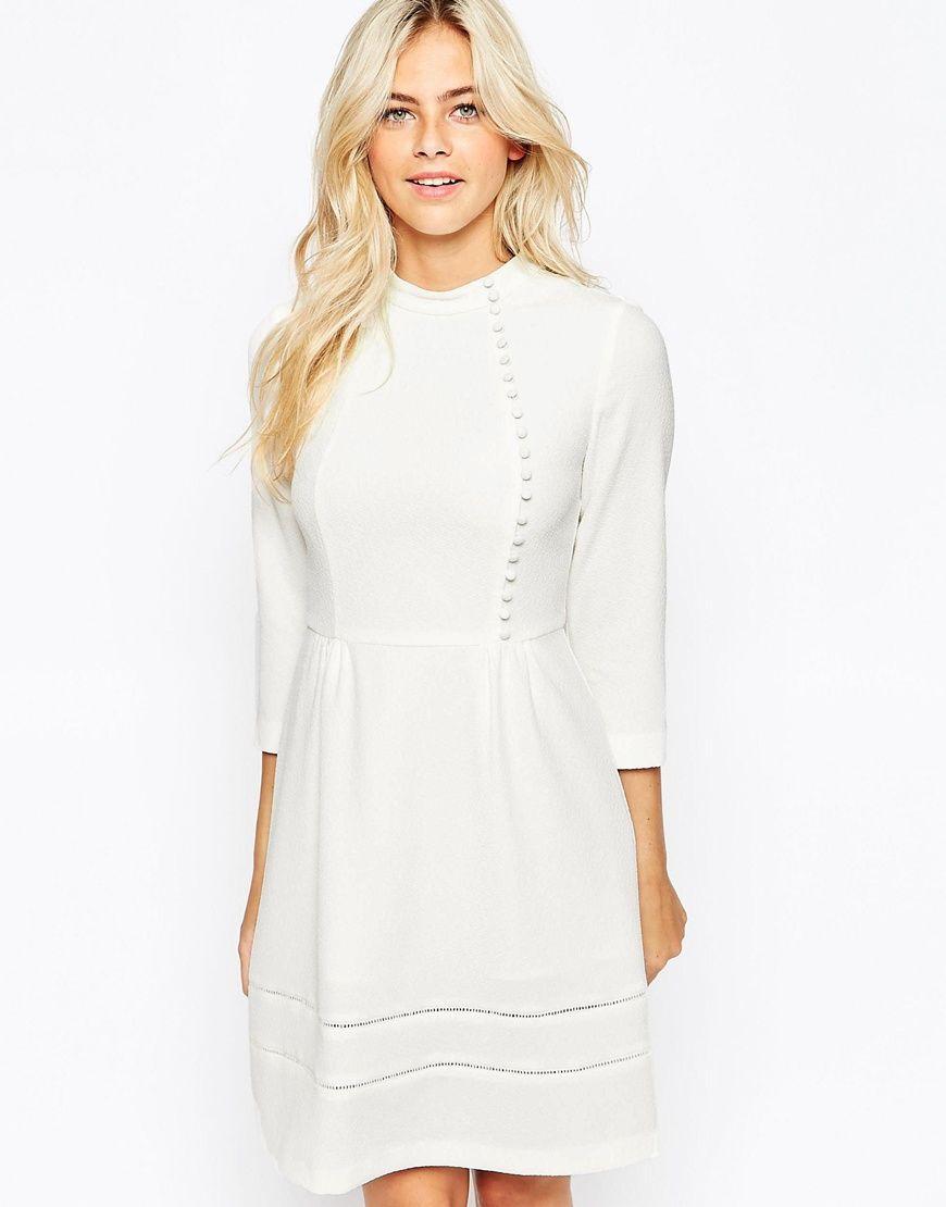 Oasis Victoriana Button Dress | haine shopaholic | Pinterest | Hoher ...