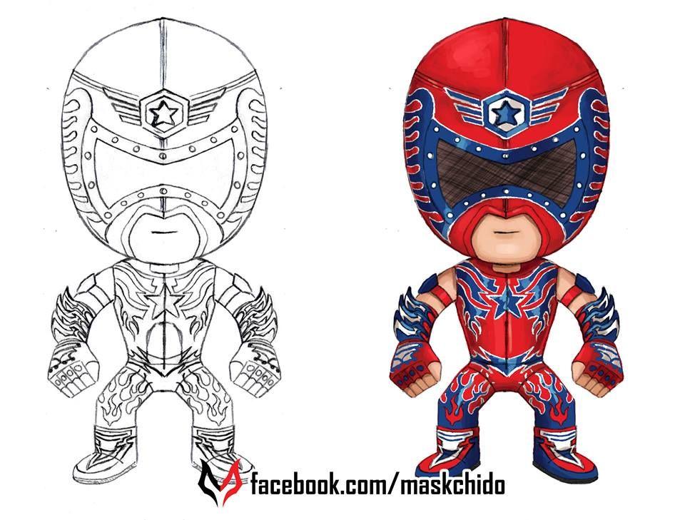 Lucha Libre Aerostar Fan Art Facebook Com Maskchido Lucha Libre Dibujos Para Colorear Lucha