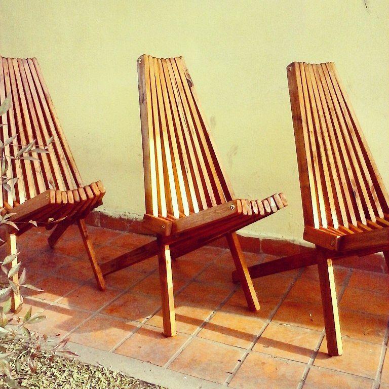 Silla plegable estilo jesuita toco madera en 2019 - Sillas madera jardin ...