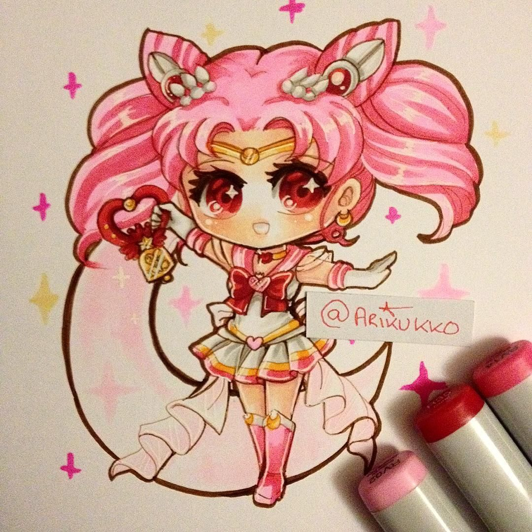 Twinkle Yell Chibi Fanart Of Super Sailor Chibi Moon From