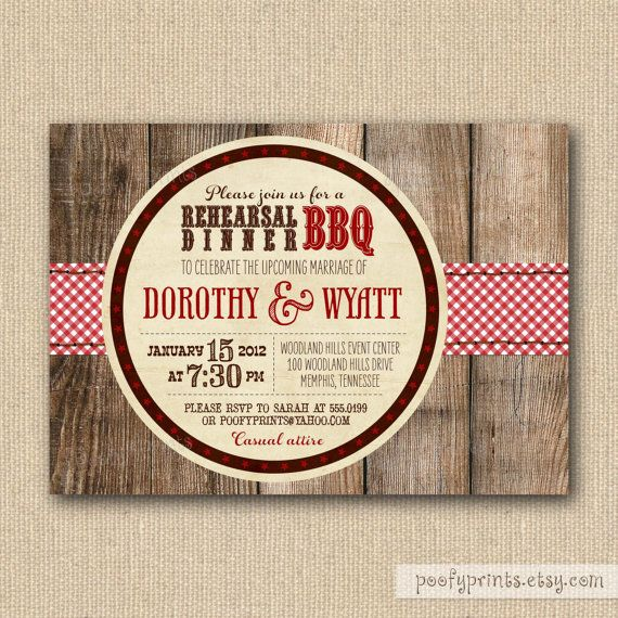 what an invitation for a rustic fun rehearsal dinner best part is