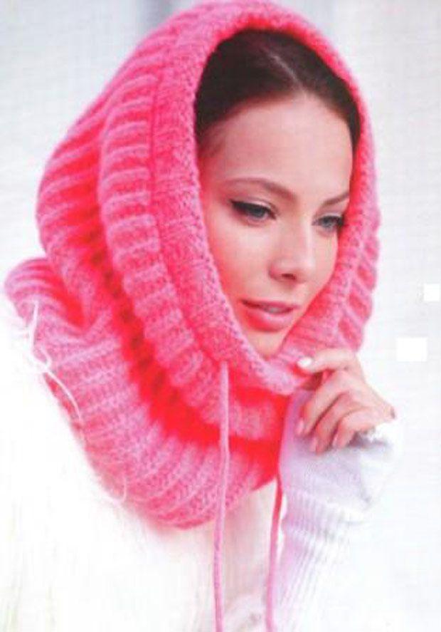 схемы вязания шарфов спицами с описанием снуд хомут труба коса