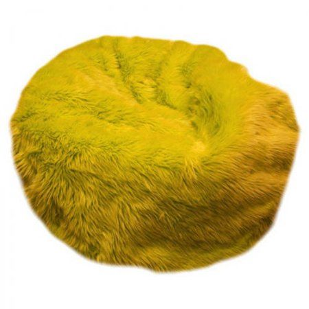 Tremendous Small Beanbag Yellow Fuzzy Fur Products In 2019 Bean Machost Co Dining Chair Design Ideas Machostcouk