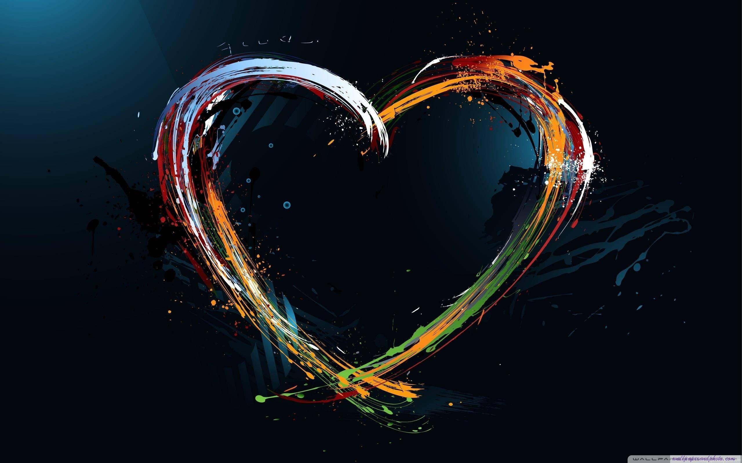 Vernici la spruzzata cuore hd 16 9 16 10 sfondo del for Desktop alta definizione