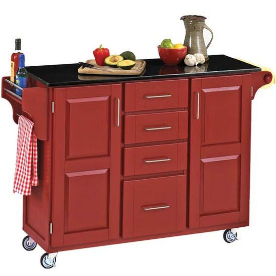 Red Kitchen Islands Kitchen Carts Mix And Match Red Kitchen Cart Cabinet W Black Portable Kitchen Island Kitchen Tops Granite Black Kitchen Island
