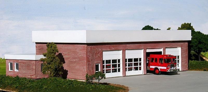 Ho Scale Fire Station Modern City Fire Station Kit In Ho Scale