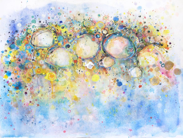 Clara Fialho 295 Abstract Colorful Work On Paper Abstract