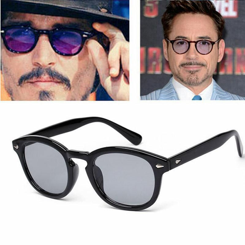 2ba9847c58 Vintage Clear Tinted Lens Johnny Depp Glasses Fashion Frame Retro Sunglasses  Men