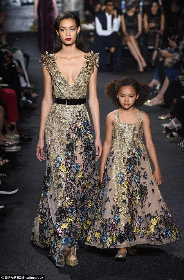 Elie Saab shows matching mother-daughter gowns in Couture Fashion ...