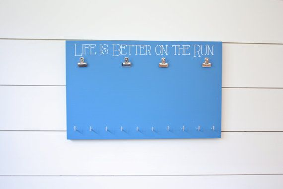 Bib and Medal Holder Life is Better on the Run by YorkSignShop