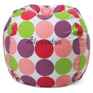 Amazing Dots Beanbag Chair Lillian Vernon Kids Rooms Lillian Caraccident5 Cool Chair Designs And Ideas Caraccident5Info