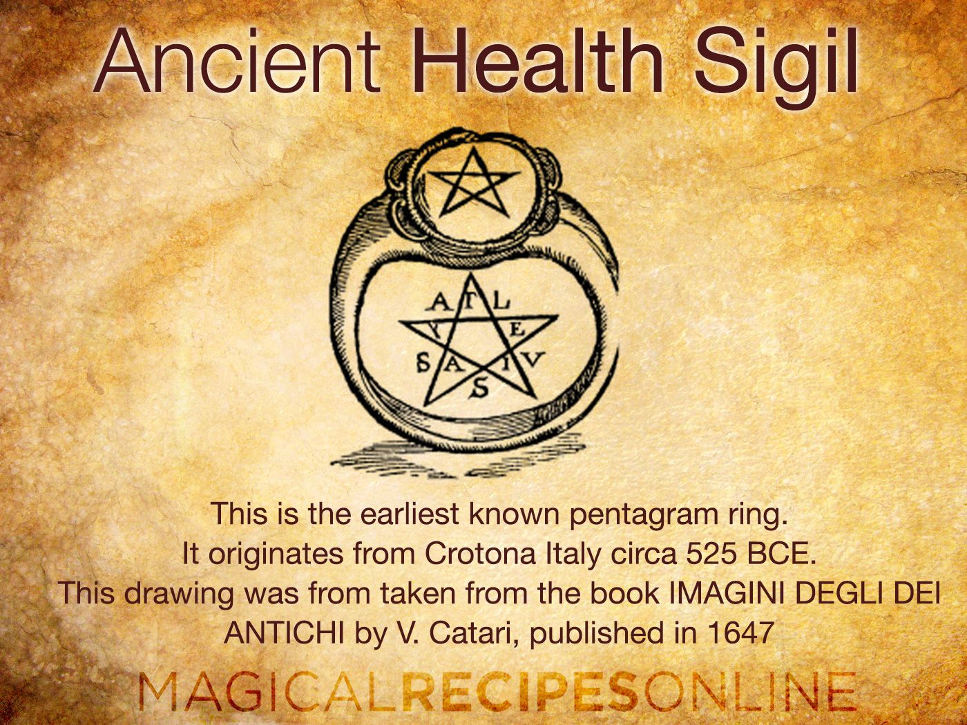 an ancient greek spell How to restore health and vigour