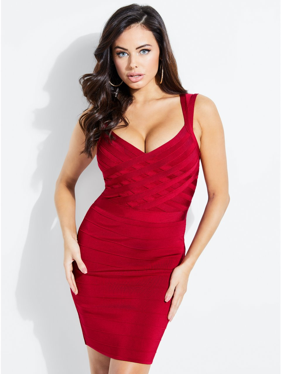 e3048a7750d8 Mirage Mesh-Trim Bandage Dress in 2019 | Products | Dresses, Long ...