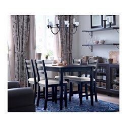 LERHAMN Chair, black brown, Vittaryd beige IKEA | Ikea