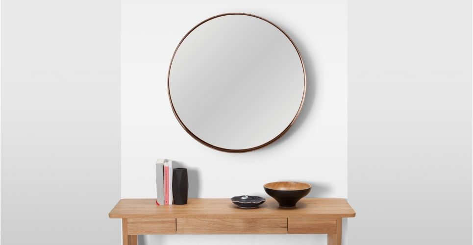 Made Round Wall Mirror Extra Large 80 X 80 Cm Copper Express