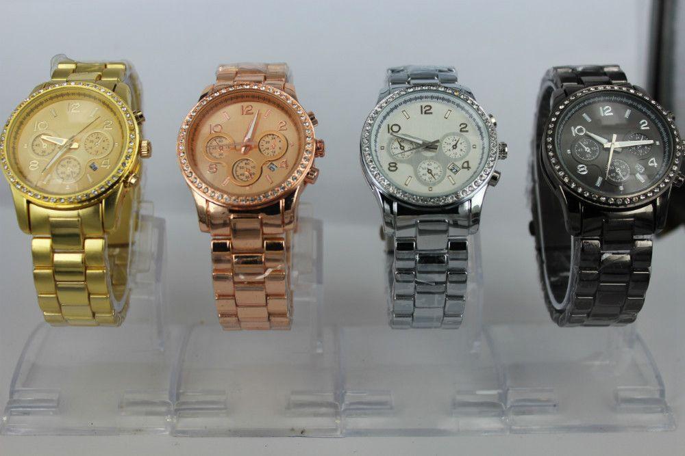 Aliexpress.com: Compre Fina Strap Para Mulheres Dress Watch Relógio de pulso analógico Quartz Silver Dial Aço Relógios PU Belt Brilhante Ord ...